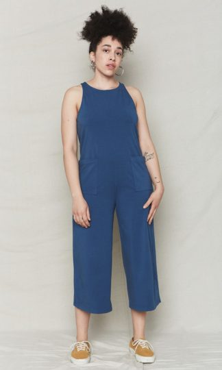 Everyday Jumpsuit Ocean Back Beat Rags
