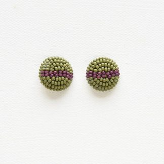 Petite Seed Bead Button Earrings Ink + Alloy