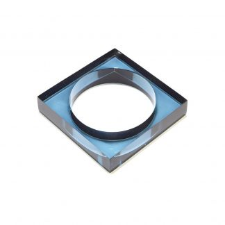 Lucite Square Bangle Ink + Alloy