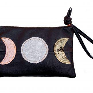 Love Mert Moons Leather Clutch