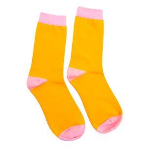 Mustard + Pink Socks Darling Distraction