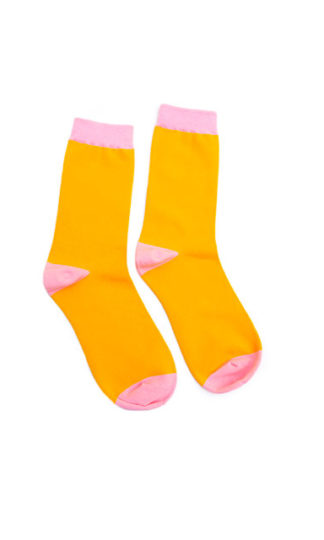 Mustard + Pink Socks Darling Distraction