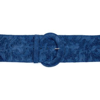 Molly Embossed In Suede Belt