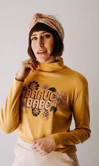 Brave Babe Turtleneck Tee Dazey LA
