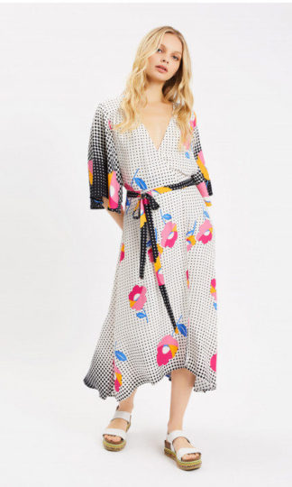 Mary Mary Quite Contrary Wrap Dress Traffic People