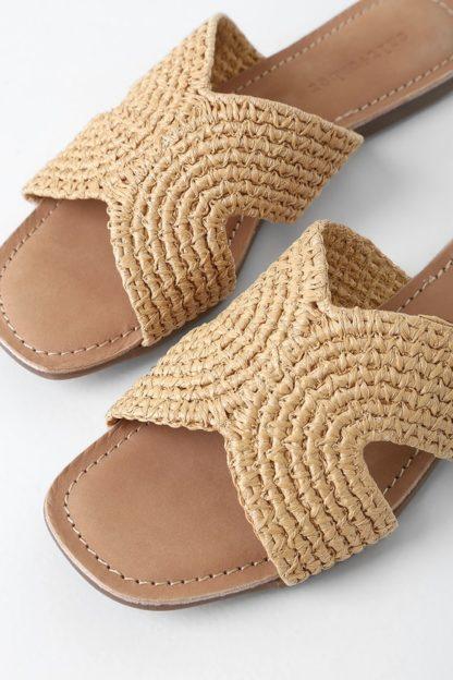 Darium Woven Slide Sandal Salt + Umber