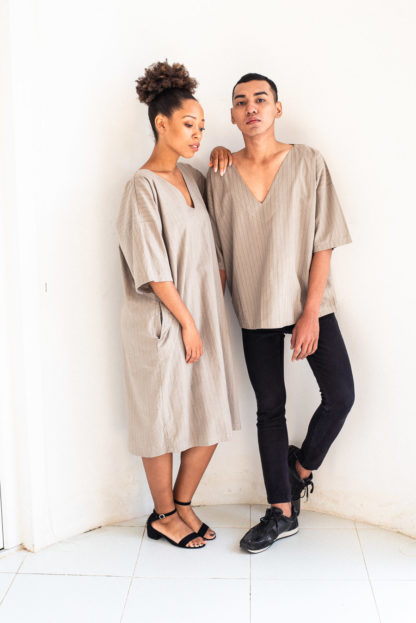 Naturally Dyed Veha Top and Dress by Tonle'