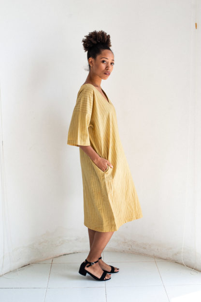Naturally Dyed Veha Dress by Tonle'