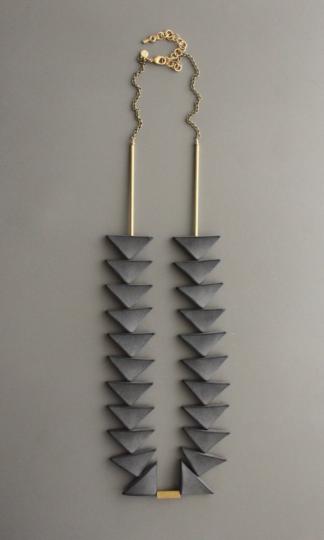David Aubrey Bermuda Triangle Necklace Black