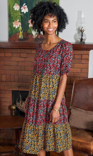 Mata Traders Tiered Midi Dress