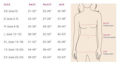 Mata Trader Size Chart