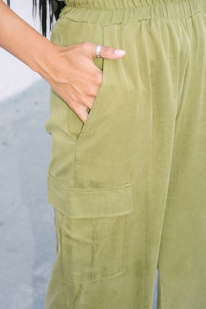 Tencel Lounge Cargo Pants Back Beat Rags