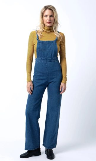 Cameo High-Waisted Denim Overall