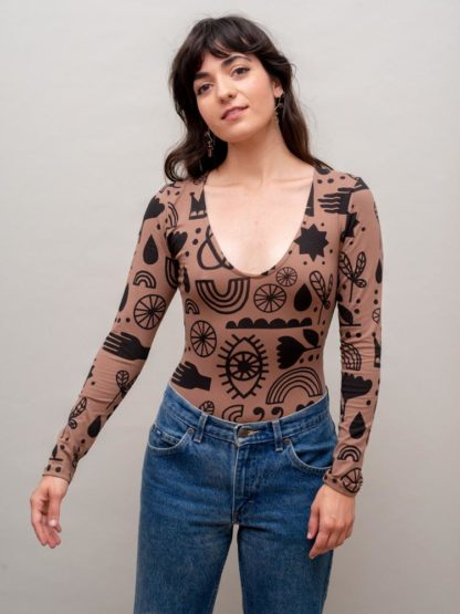 Nooworks The Brown Flash Bodysuit