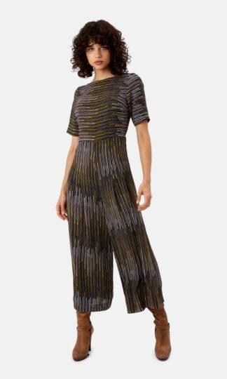 Featuring an ever-flattering wide leg and stripes of colour, this is the jumpsuit to take you through from desk to dinner with ease.