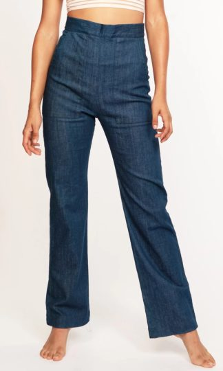 Cameo High-Waisted Denim Trouser