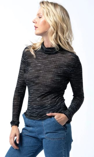 Cameo Coal Heathered Vintage Turtleneck