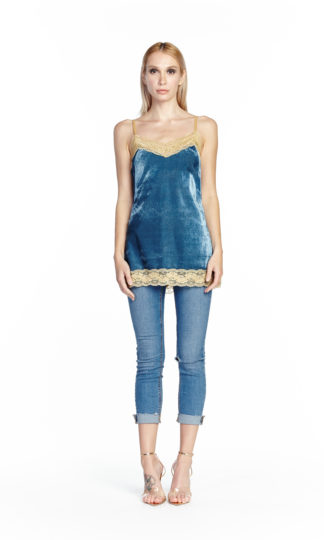 Aratta Velvet Dreams Cami Teal