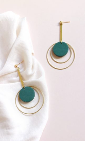 Elysian Theory Elise In Evergreen Earrings