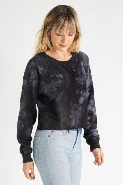 Etica Yara Sweatshirt Black Tie Dye