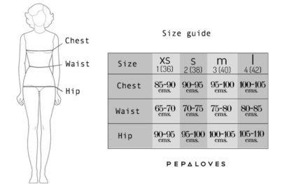 Pepaloves size-guide