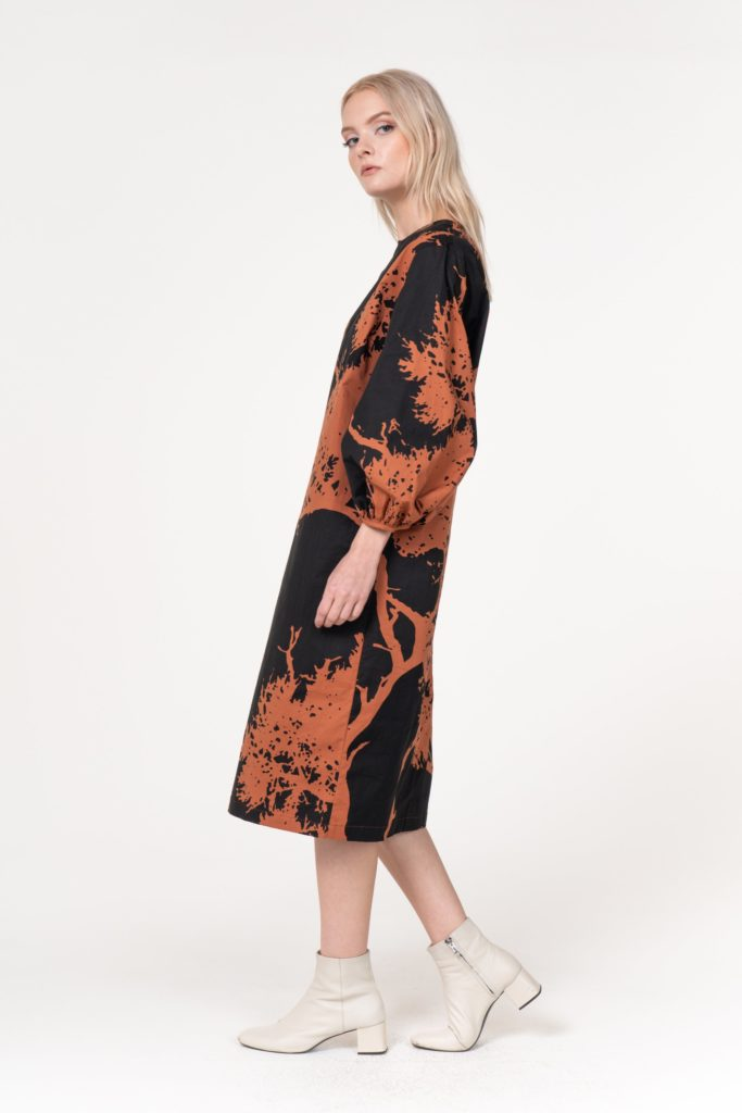 Bel Kazan Adley Mocha Tree Dress