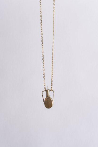 Crystal Vessel Necklace Heron + Lamb