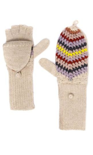 Emilime Star Crochet Flip-Top Mittens