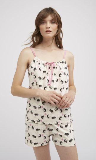 People Tree Cat Pyjama Camisole