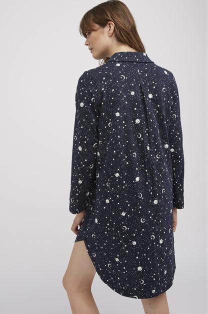 People Tree Galaxy Print Pyjama Shirt Dress