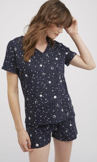 Peopletree Heart Print Nightdress Camis/ón para Mujer