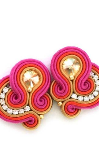 Sabo Design Soutache Bold Short Earrings