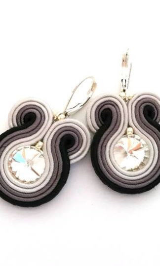 Sabo Design Soutache Embroidered Short Earrings