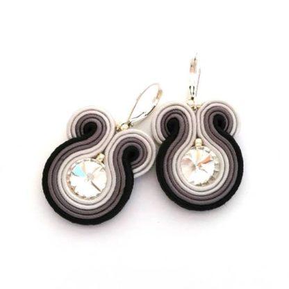 Sabo Design Soutache Embroidered Short Earrings