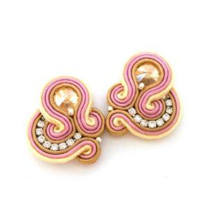 Sabo Design Soutache Gold Short Earrings