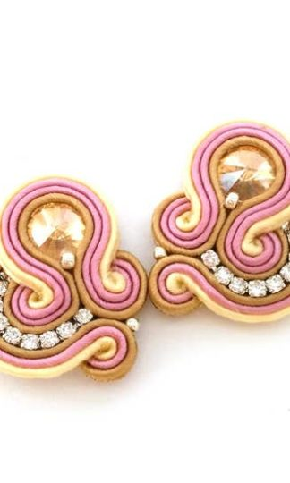 Sabo Design Soutache Gold Short Earrings