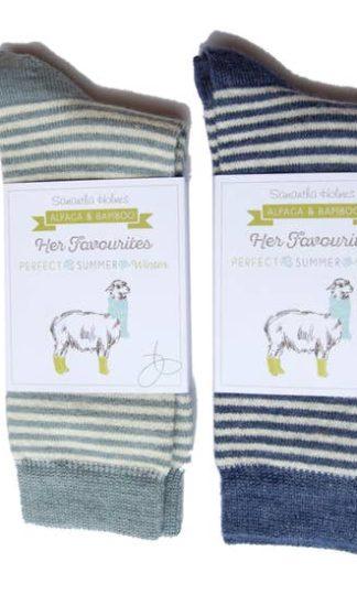 Samantha Holmes Alpaca Stripey Socks