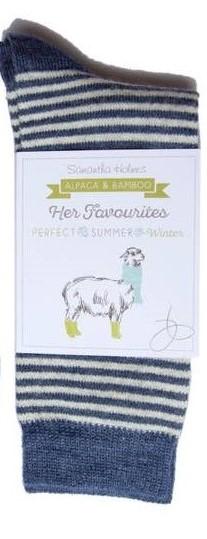 Samantha Holmes Alpaca Stripey Sock
