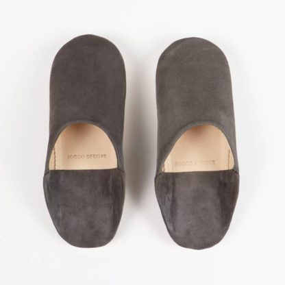 Socco Designs Charcoal Babouche slippers