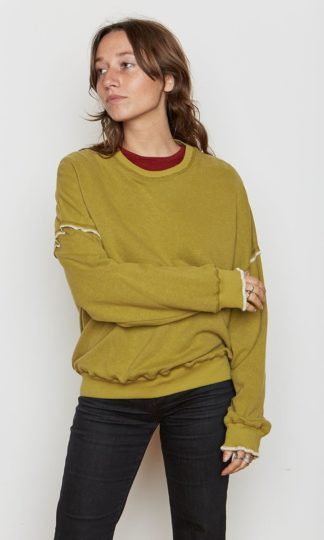 Back BEat Rags Hemp Oversized Sweatshirt Avocado