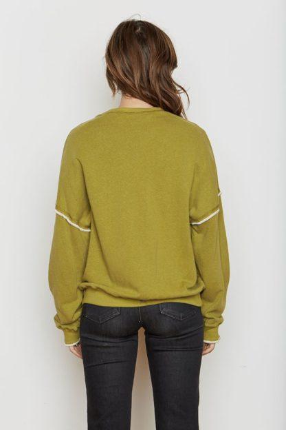 Back BEat Rags Hemp Oversized Sweatshirt Avocado