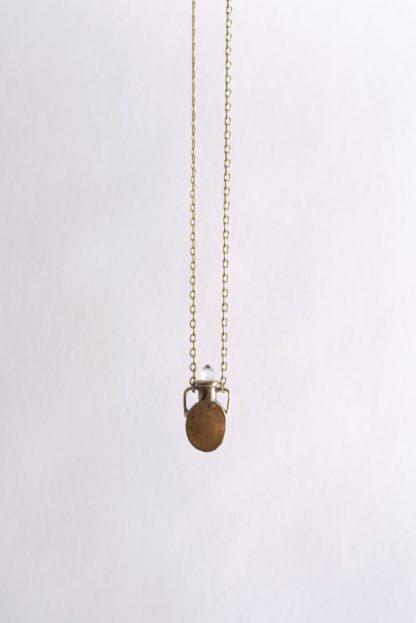 Petite Crystal Vessel Necklace Heron+Lamb
