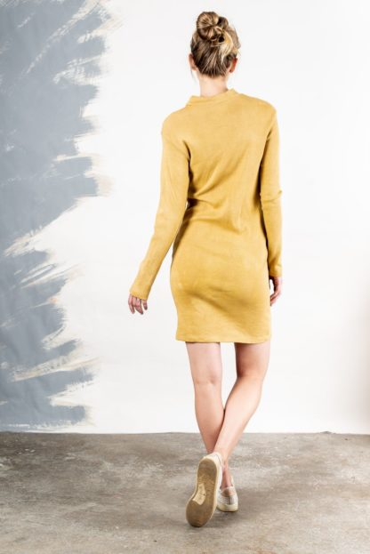 Mock Neck Longsleeve Dress Tonle