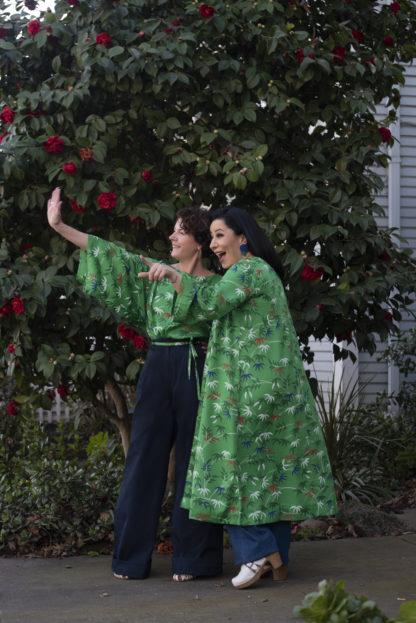 V&A Bamboo Print Kimono Jacket People Tree