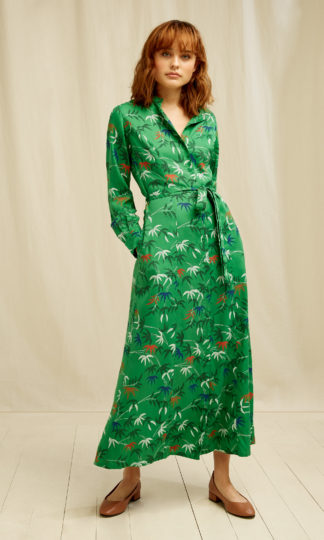 V&A Bamboo Print Shirt Dress People Tree