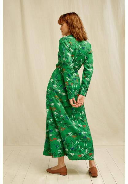 V&A Bamboo Print Shirt Dress People Tree