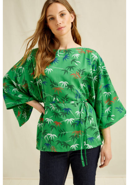 V&A Bamboo Print Top People Tree