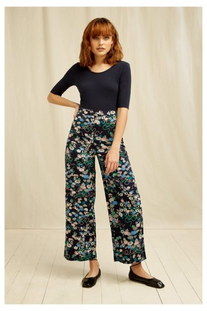 People Tree- Floral Print-V&A Trouser Fair Trade Organic