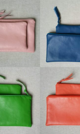 Amara Felice Hand MAde Leather Pouches