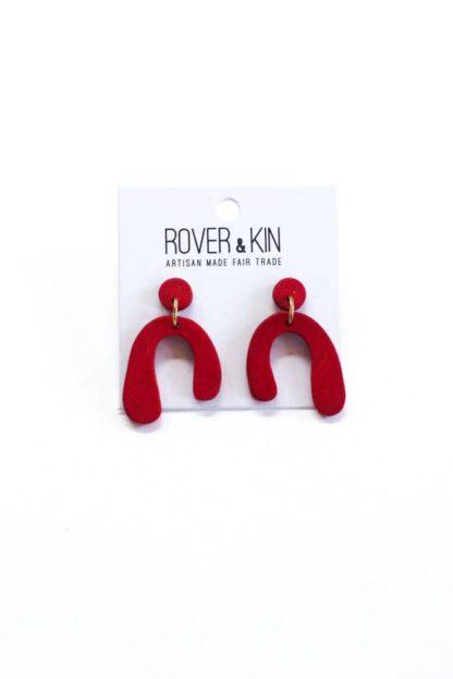 Baby Parabola Earrings Rover and Kin Goji Fair Trade